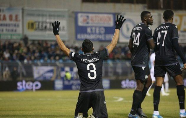 Ο ΠΑΟΚ νίκησε τη Λαμία με 1-0 – Διαμαρτυρίες για το γκολ – «Κόλλησε» το VAR!