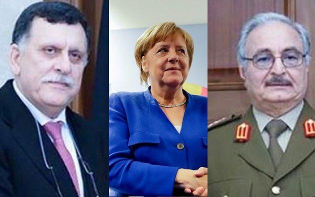 Μέρκελ για Χαφτάρ και Σαράτζ: «Δεν μιλάνε μεταξύ τους»