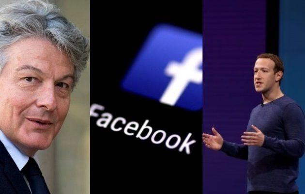 Η Κομισιόν τραβάει το αυτί του Ζούκερμπεργκ: Το Facebook να συμμορφωθεί με τους ευρωπαϊκούς κανόνες