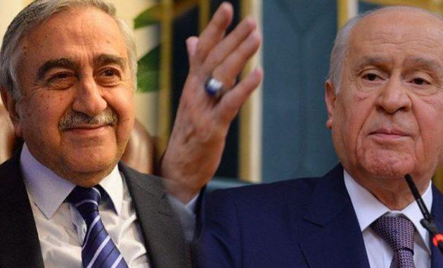 Ο «γκρίζος λύκος» Μπαχτσελί κατηγορεί τον Τουρκύπριο Ακιντζί για πράκτορα της Ελλάδας