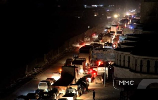 Χαλέπι: Προς την Αφρίν υποχωρούν τζιχαντιστές της Αλ Κάιντα και άμαχοι φιλοϊσλαμιστές