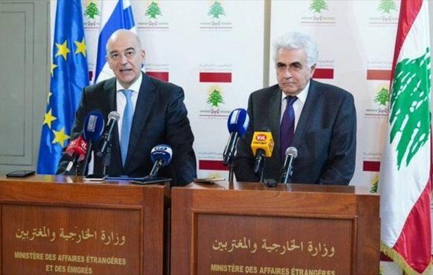 Στο Λίβανο ο Δένδιας: Πρωταρχικής σημασίας η παύση εχθροπραξιών στη Λιβύη
