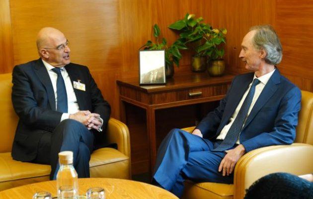Νίκος Δένδιας: Η Ελλάδα στηρίζει την επίτευξη πολιτικής λύσης στη Συρία