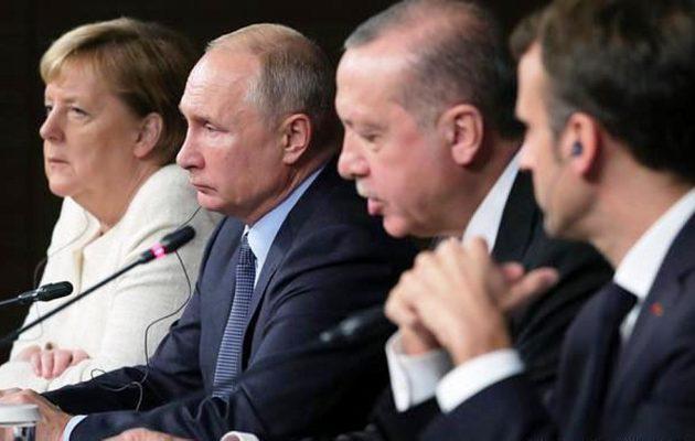 Πούτιν, Μέρκελ, Μακρόν και Ερντογάν θα συναντηθούν για την κατάσταση στην Ιντλίμπ