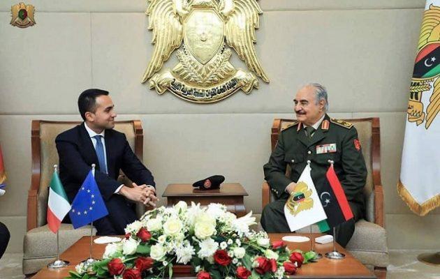 Στον Χαφτάρ ο Ντι Μάιο: Στη Λιβύη υπάρχει ένας λαός που ζητά απαντήσεις