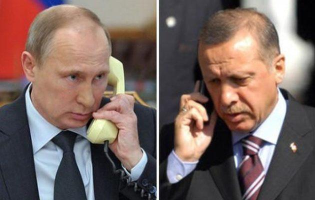 Ερντογάν και Πούτιν συνομίλησαν τηλεφωνικά για το Ναγκόρνο Καραμπάχ