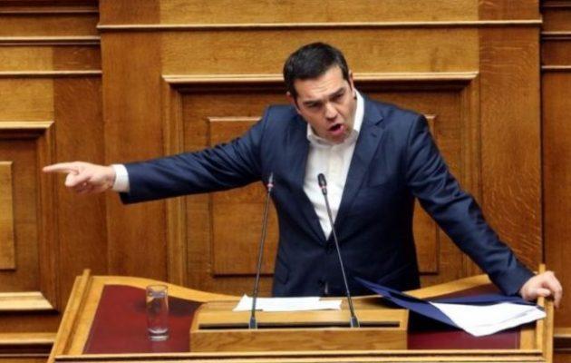 Ο Αλέξης Τσίπρας προειδοποίησε από το βήμα της Βουλής: Η χώρα «στα πρόθυρα τους χάους»