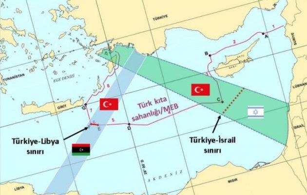 Η Τουρκία μετά το Καστελόριζο «σβήνει» και τη Ρόδο για να ορίσει ΑΟΖ με το Ισραήλ