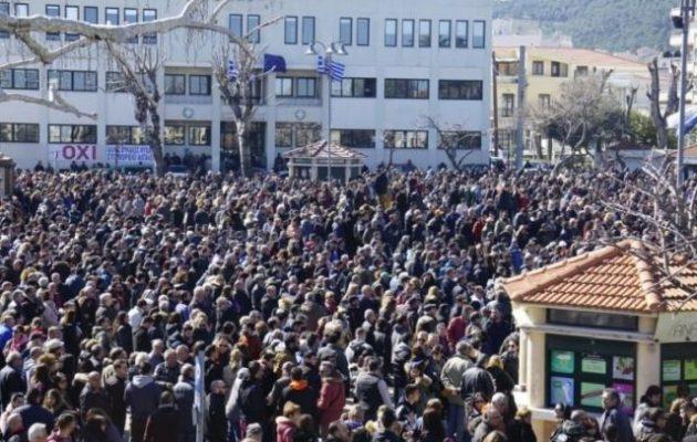 Συλλαλητήριο στη Χίο κατά της αστυνομικής βίας και της νέας υπερδομής στο Αίπος