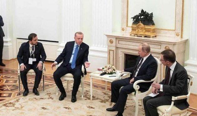 Ο Ερντογάν πρότεινε στον Πούτιν να πάρουν το πετρέλαιο της Συρίας από τον έλεγχο του Τραμπ