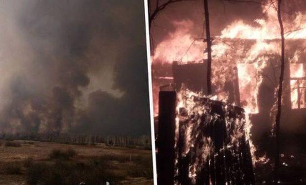 Μόλις ένα χιλιόμετρο από τον πυρηνικό σταθμό του Τσερνόμπιλ βρίσκεται η πυρκαγιά