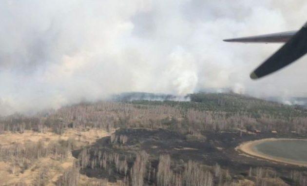 Καίγεται το δάσος στο Τσερνόμπιλ – Αύξηση της ραδιενέργειας