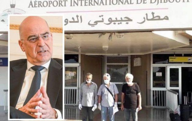 Επαναπατρίστηκαν οι Έλληνες ναυτικοί που κρατούνταν στο Τζιμπουτί – Ικανοποίηση Δένδια