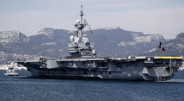 Σε ανατ. Μεσόγειο και Ινδικό Ωκεανό το γαλλικό αεροπλανοφόρο Charles-de-Gaulle