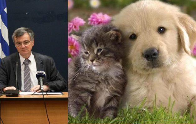 Τσιόδρας: Δεν υπάρχει κίνδυνος μετάδοσης κοροναϊού στους ανθρώπους από γάτες και σκύλους
