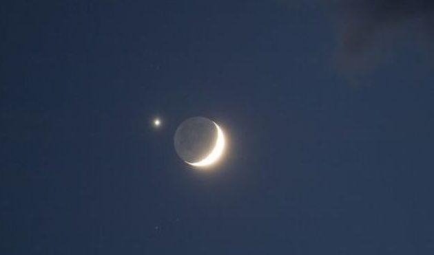 «Μαζί» Αφροδίτη και Σελήνη στον ουρανό