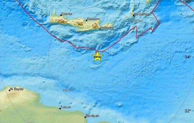 Σεισμός 4,2 Ρίχτερ στα νότια της Κρήτης