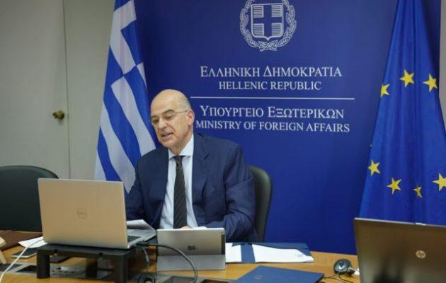 Τηλεδιάσκεψη Δένδια με τους Βαλκάνιους ΥΠΕΞ – Διαβάστε την Κοινή Υπουργική Δήλωση