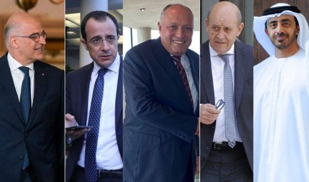Συμμαχία Ελλάδας, Κύπρου, Γαλλίας, Αιγύπτου και Εμιράτων απέναντι στην Τουρκία – «Σάλταρε» ο Ερντογάν
