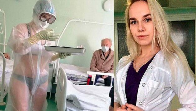 Αυτή είναι η Ρωσίδα νοσηλεύτρια που φρόντιζε ασθενείς με κορωνοϊό φορώντας εσώρουχα (φωτο)