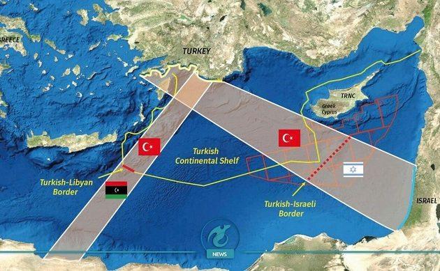 Oι Τούρκοι παρουσίασαν χάρτη οριοθέτησης ΑΟΖ με το Ισραήλ