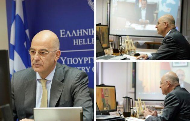 Τριμερής τηλεδιάσκεψη Δένδια με ομολόγους του Κύπρου και Ιορδανίας