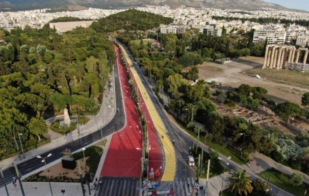 Μεγάλος Περίπατος της Αθήνας: Πρεμιέρα με πεζούς και ποδηλάτες στη νέα λεωφόρο Βασιλίσσης Όλγας