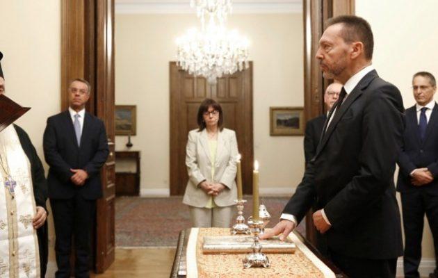 Ορκίστηκε ξανά ο Γιάννης Στουρνάρας ως Διοικητής της Τράπεζας της Ελλάδος