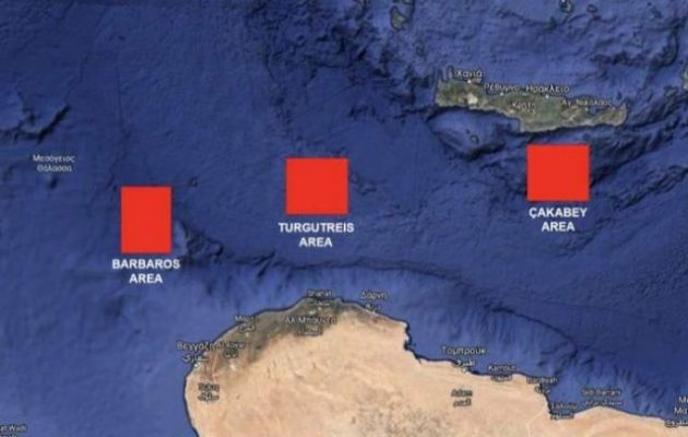 Η Τουρκία προκαλεί με αεροναυτική άσκηση μεταξύ Κρήτης και Λιβύης