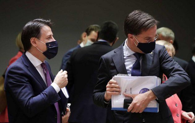 «Πλακώθηκαν» Κόντε και Ρούτε στη Σύνοδο Κορυφής για το Ταμείο Ανάκαμψης