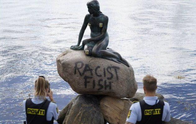 «Ρατσιστικό ψάρι» – Βανδάλισαν τη «Μικρή Γοργόνα»