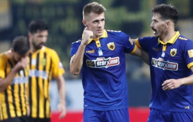 Η ΑΕΚ νίκησε 4-1 τον Άρη στο «Κλεάνθης Βικελίδης» και πέρασε 2ος στη Super League