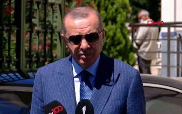 «Απαράδεκτη» λέει ο Ερντογάν η αλληλεγγύη του Ισραήλ με Ελλάδα και Αίγυπτο