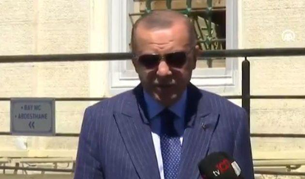 """Ερντογάν: «Τάφοι """"Τούρκων"""" στη Δυτ. Θράκη δέχτηκαν επίθεση»"""