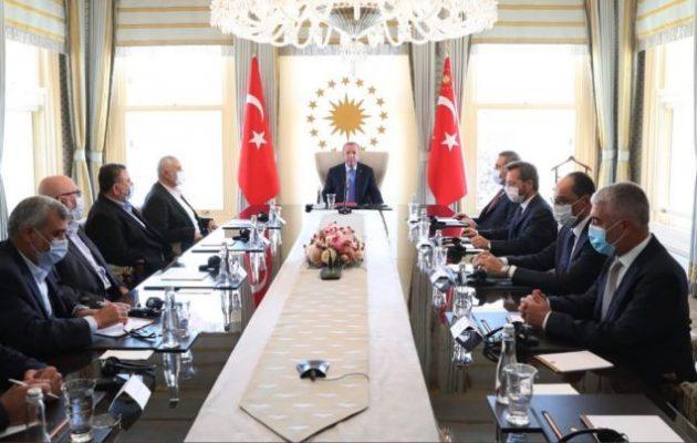Ο Ερντογάν συναντήθηκε με την ηγεσία της τρομοκρατικής οργάνωσης Χαμάς
