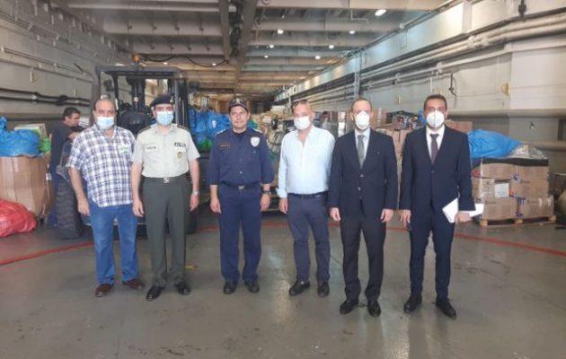 Το «ΙΚΑΡΙΑ» έφτασε στη Βηρυτό με βοήθεια από Ελλάδα και Κύπρο και Έλληνες γιατρούς
