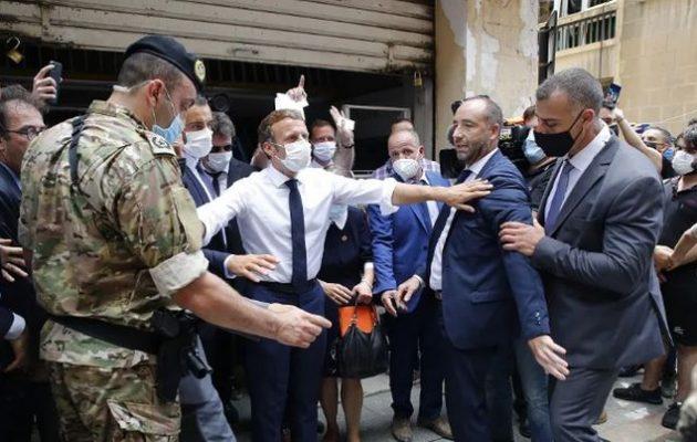 Βηρυτός: Έξαλλοι Λιβανέζοι φώναζαν «επανάσταση» και ζητούσαν επέμβαση της Γαλλίας