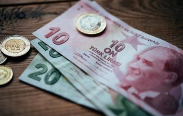 Τη μεγαλύτερη πτώση της από το 1999 καταγράφει η τουρκική λίρα