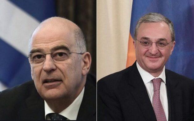 Δένδιας-Μνατσακανιάν επιβεβαίωσαν τους ισχυρούς δεσμούς Ελλάδας-Αρμενίας