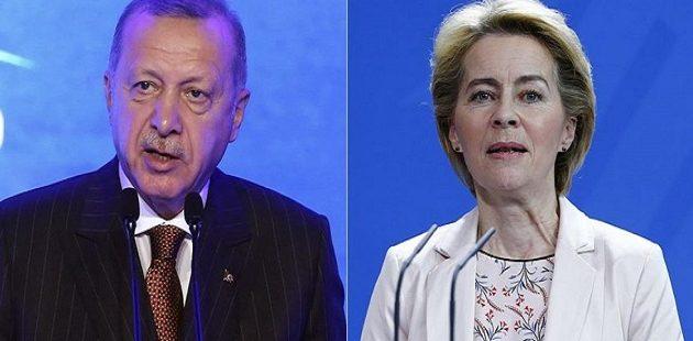 H Oύρσουλα συνομίλησε με Ερντογάν τρεις ημέρες πριν τη Σύνοδο Κορυφής