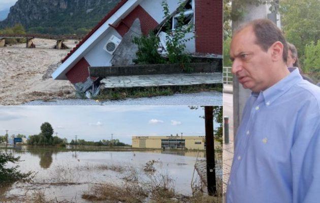 Ο Σπίρτζης είδε την καταστροφή: «Δεν υπήρχε εγρήγορση και προετοιμασία στη Θεσσαλία»