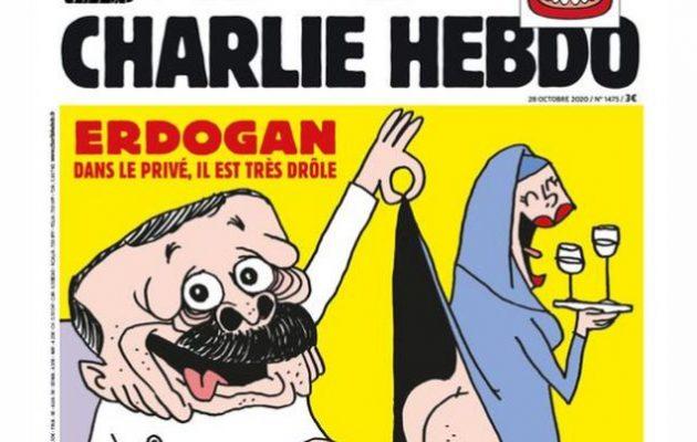 Ο Ερντογάν πρωτοσέλιδο στη Charlie Hebdo με… σώβρακο και… κάτω από τη μπούργκα