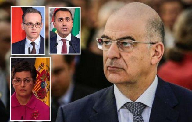 Ο Δένδιας ζητά από Γερμανία, Ισπανία, Ιταλία εμπάργκο όπλων στην Τουρκία – Σε Χ. Μάας: Να μην παραδοθούν τα υποβρύχια