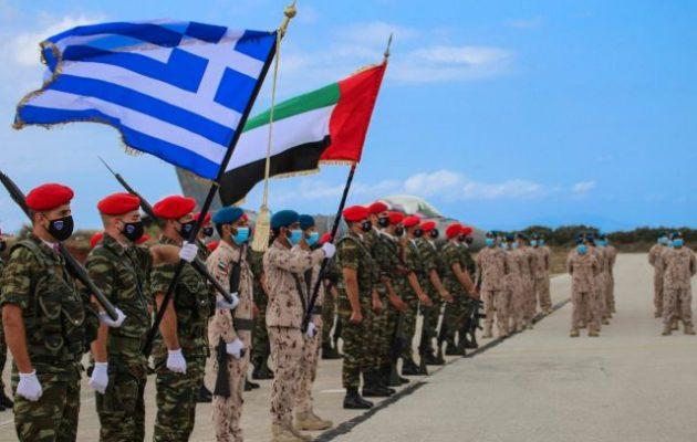 Ολοκληρώθηκε η συνεκπαίδευση πολεμικών αεροποριών Ελλάδας και Εμιράτων