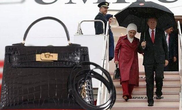 """«Η Εμινέ Ερντογάν να κάψει την $50.000 τσάντα Hermes στην αυλή του παλατιού και να φωνάζει: """"Διαμαρτύρομαι""""»"""