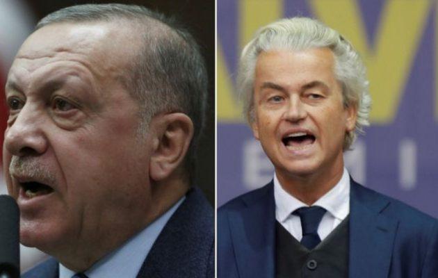 Μήνυση κατά του Βίλντερς υπέβαλε ο Ερντογάν – Βίλντερς προς Ερντογάν: «Είσαι αποτυχημένος»