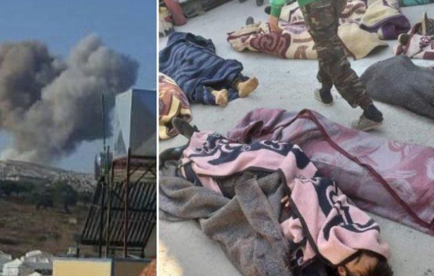 Οι Ρώσοι βομβάρδισαν στρατόπεδο της φιλοτουρκικής Φαϊλάκ αλ Σαμ στη Β/Δ Συρία – Μεγάλες απώλειες