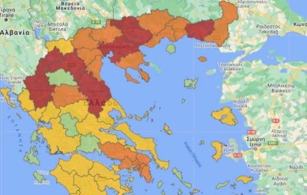 Κορωνοϊός: Στο «κόκκινο» από σήμερα Θεσσαλονίκη, Λάρισα και Ροδόπη
