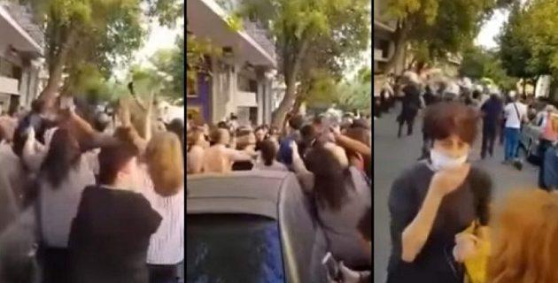 Έδειραν τον πρώην πρόεδρο της Γεωργίας στο κέντρο της Αθήνας (βίντεο)