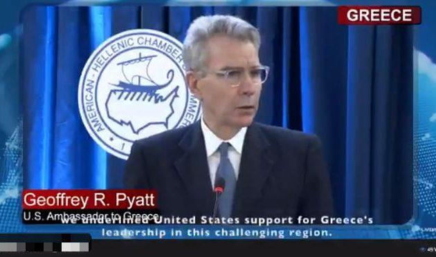 Τζέφρι Πάιατ: Οι ΗΠΑ υποστηρίζουν τον ηγετικό ρόλο της Ελλάδας στην περιοχή
